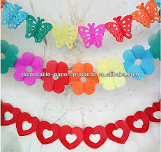 tissue paper streamers crepe paper streamers tissue paper garland party supplies banners