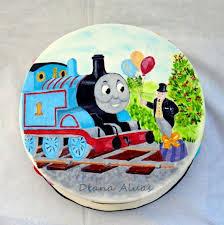 thomas hand painted cake diana aluas cakesdecor