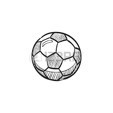 lineman flag icon in doodle sketch lines football soccer match