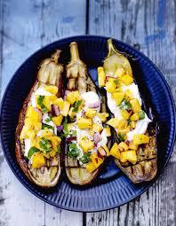 cuisine des aubergines aubergines salsa de mangue fraîche pour 4 personnes recettes