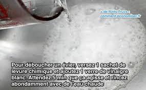 evier cuisine bouché comment déboucher un évier avec de la levure chimique