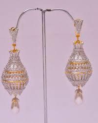jhumki style earrings im138 diamonds big jhumki style earrings rifah jewellers pvt