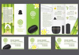 spa brochure template spa tri fold brochure vector template spa