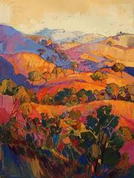 california landscape painting color curves by erin hanson