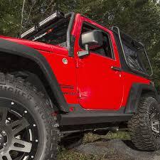 red jeep 2 door rugged ridge 11504 17 xhd rocker sliders steel 07 16 jeep