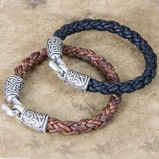 braided leather cord bracelet images Jewelry bracelet celtic braided leather oberon design png
