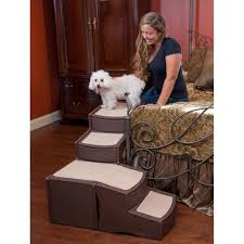 easy l shape step bed stair with storage for small and medium dogs