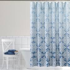 classics ombre foulard fabric shower curtain