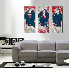 the pop art triptych wise monkeys panoramic 3 x 55 x 120 zoom