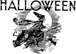 halloween flying witch background halloween clipart