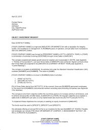 letter of request for an equity investment template u0026 sample