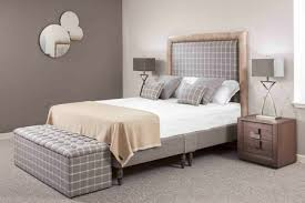 custom covered beds wool check headboards robinsons beds
