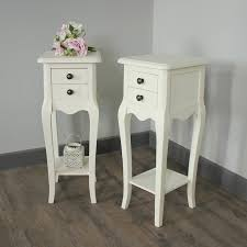 two drawer bedside table pair of belgravia range slim cream 2 drawer bedside tables