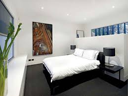 beautiful design ideas of home bedroom interior with black wooden