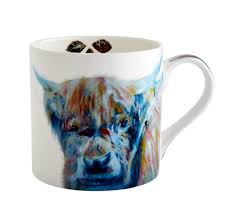 fairmont and main julie steel 380ml animal mug stag hare