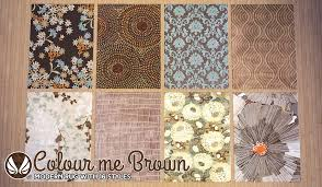 simsational designs colour me brown modern rugs Modern Rug Designs