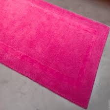 Pink Bathroom Rugs by Dewoolfson Linens