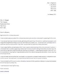 Library Assistant Cover Letter library assistant cover letter exle icover org uk