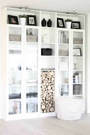 White Bookcase With Doors Ikea 54 Ikea Billy Bookcase Hacks Comfydwelling Home