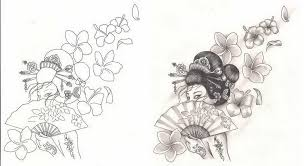 freebies tattoo designs geisha flowers tattoosavage 5468121 top