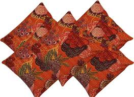 Home Decor Items Buy Online Buy Orange Cushion Covers Home Decor Items Quilts And Covers Online