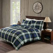 Eddie Bauer Rugged Plaid Comforter Set Buy Blue Plaid King Comforter From Bed Bath U0026 Beyond