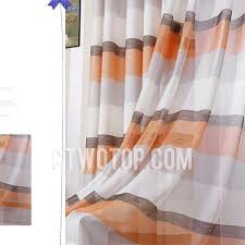 Orange And White Striped Curtains And Linen Living Room Orange Striped Curtains