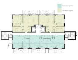in apartment house plans apartment 8 unit apartment building plans