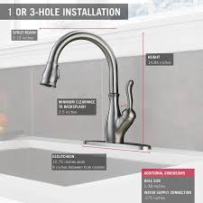 Delta Kitchen Faucet Installation Video by Delta Faucet 9178 Ar Dst Leland Single Handle Pull Down Kitchen
