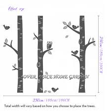 White Tree Wall Decal For Nursery by Aliexpress Com Buy Huge Tree Owl Birds Wall Sticker Big Birch