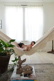 furniture inspiring hammock bed idea with fabric material with