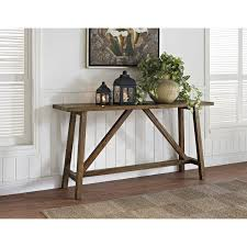 console table design rustic wood parsons console table with altra bennington console