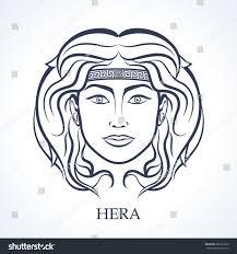 hera greek goddess marriage childbirth stock vector 386103916