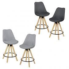 dossier de chaise finebuy ensemble de 2 tabourets de bar bois rétro tissu design avec