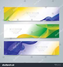 Blank Brazil Flag Collection Banner Design Background Brazil Flag Stock Vector