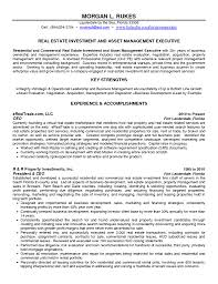 Sample Real Estate Resume Stunning Real Estate Investor Resume Ideas Simple Resume Office