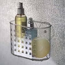 interdesign bathroom shower suction shampoo conditioner organizer
