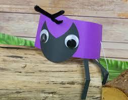 ant headband or party hat craft idea littlecraftybugs boredom
