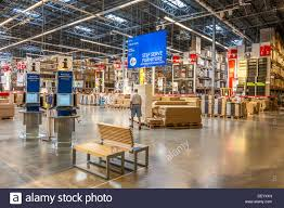 ikea marketplace customer inside warehouse part of ikea home store stock photo