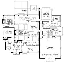 Bungalow Style Homes Floor Plans by Craftsman Style House Plan 3 Beds 2 00 Baths 2115 Sq Ft Plan 929 32
