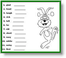 opposite words for kids free english vocabulary worksheets