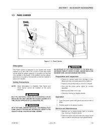 5 panel carrier description safety precautions jlg workstation
