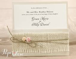 rustic pocket wedding invitations personalised gatefold laser cut wedding day evening invitations