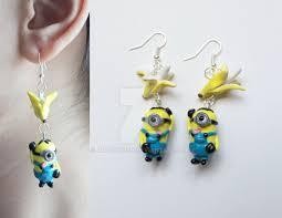 minion earrings polymer clay minion earrings by artzierush on deviantart