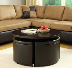 round leather coffee table footstool coffee table rustic round coffee table with storage luxury