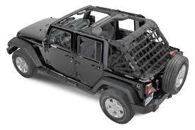 jeep wrangler 4 door maroon dirtydog 4x4 rear spider netting for 07 17 jeep wrangler