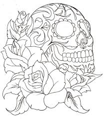 sugar skull coloring pages printable sugar skull flowers