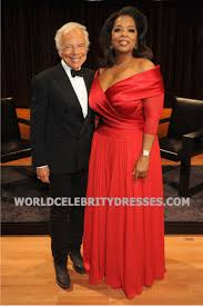 winfrey red plus size prom dresses at an evening with ralph lauren