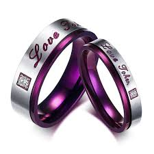 steel promise rings images Cheap selling 316l stainless steel promise rings love couple jpg