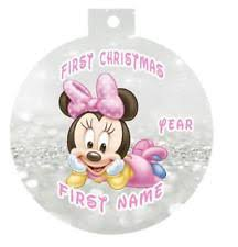 personalized minnie mouse ornament ebay